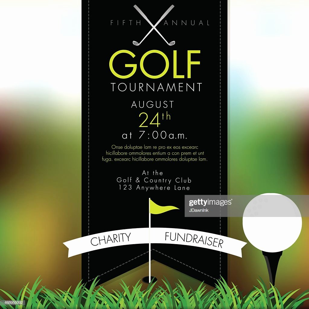 Golf tournament Invitation Template Free Beautiful Elite Golf tournament Invitation Design Template Bokeh Vector Art