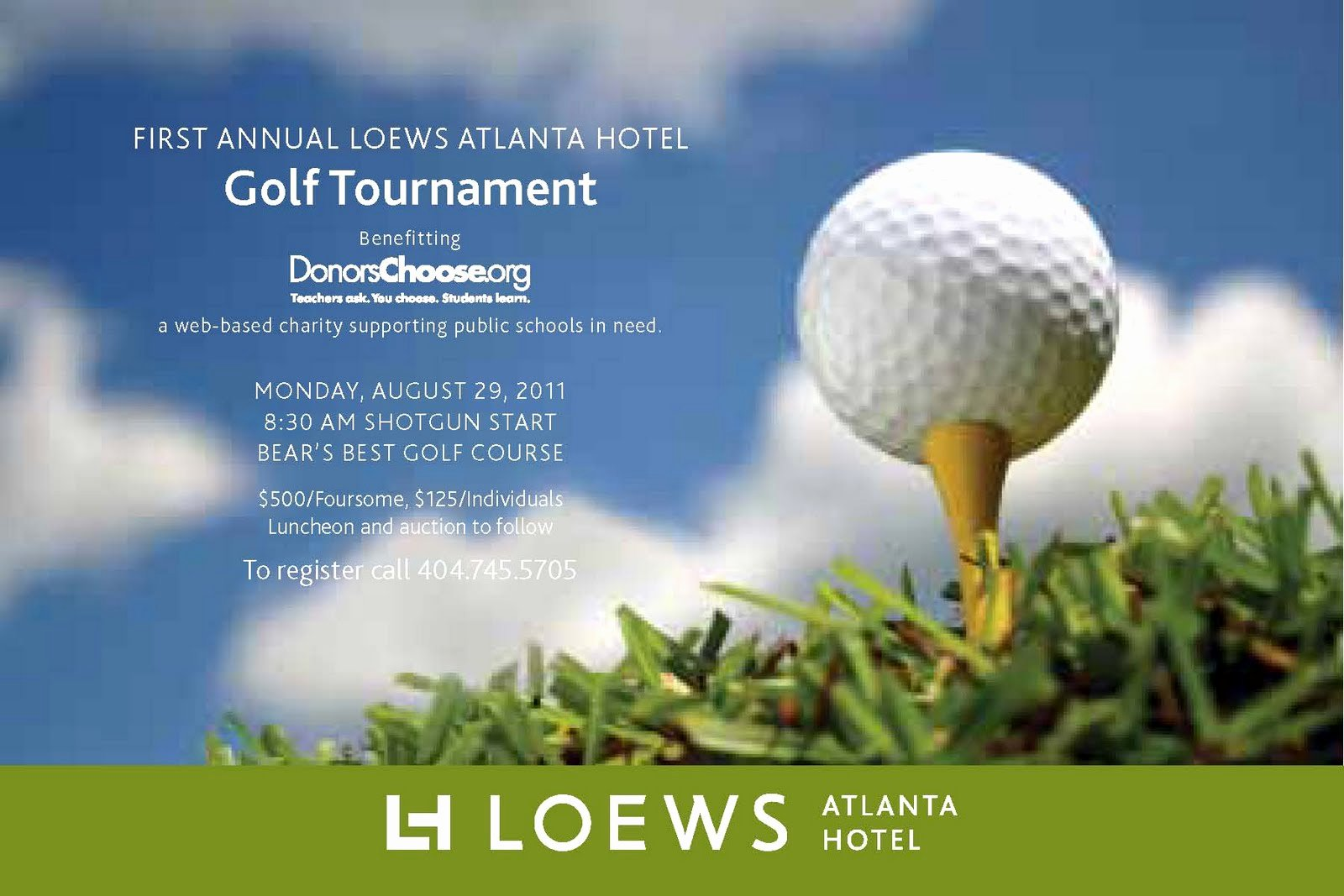 Golf tournament Invitation Template Free Beautiful Everything Midtown atlanta Join Loews atlanta Hotel for their First Annual Golf tournament