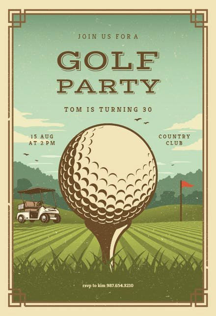 Golf tournament Invitation Template Free Beautiful Sports & Games Invitation Templates Free