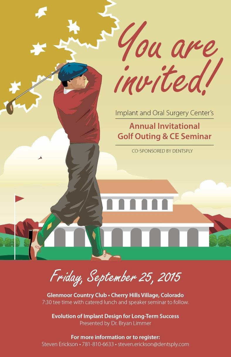 Golf tournament Invitation Template Free Fresh 7 Golf Party Invitation Designs & Templates