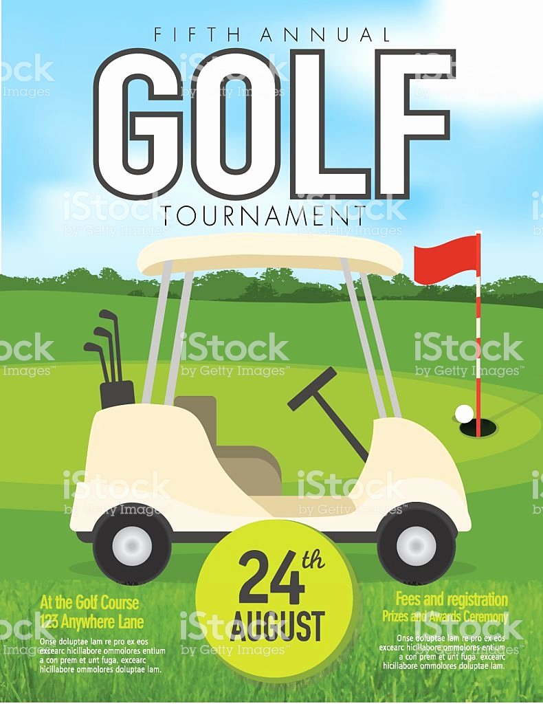 Golf tournament Invitation Template Free Fresh Golf tournament with Golf Cart Invitation Design Template Green Stock Vector Art & More