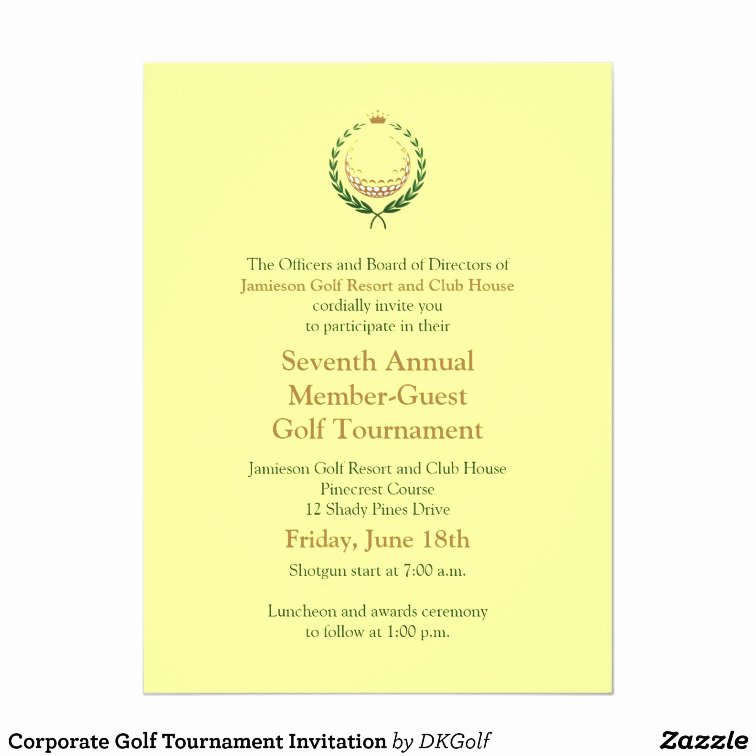 Golf tournament Invitation Template Free Inspirational Corporate Golf tournament Invitation