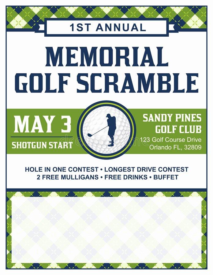 Golf tournament Invitation Template Free Lovely Golf tournament Flyer Template Stock Vector Illustration Of Golfing Scramble