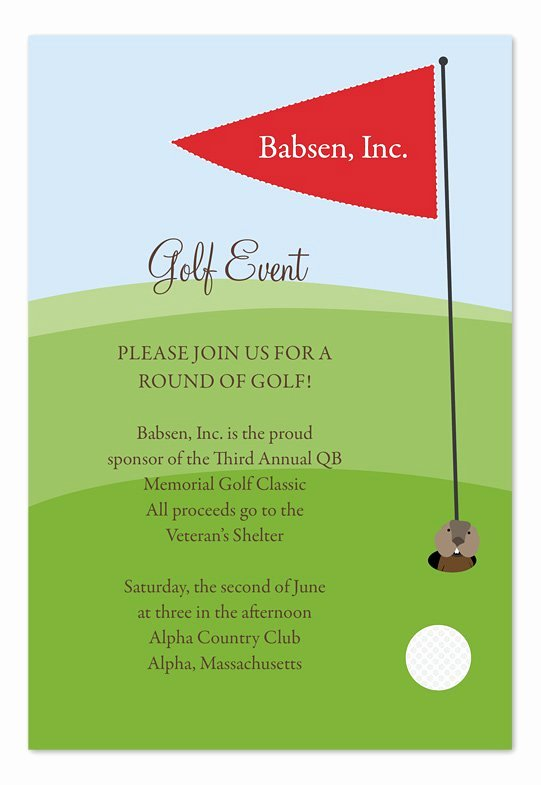Golf tournament Invitation Template Free New Golf event Invitation Templates