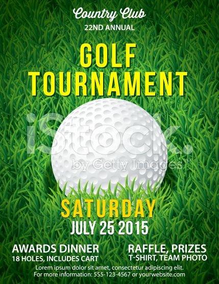 Golf tournament Invitation Template Free New Golf tournament Invitation Flyer with Grass and Ball Royalty Free Stock Vector Art