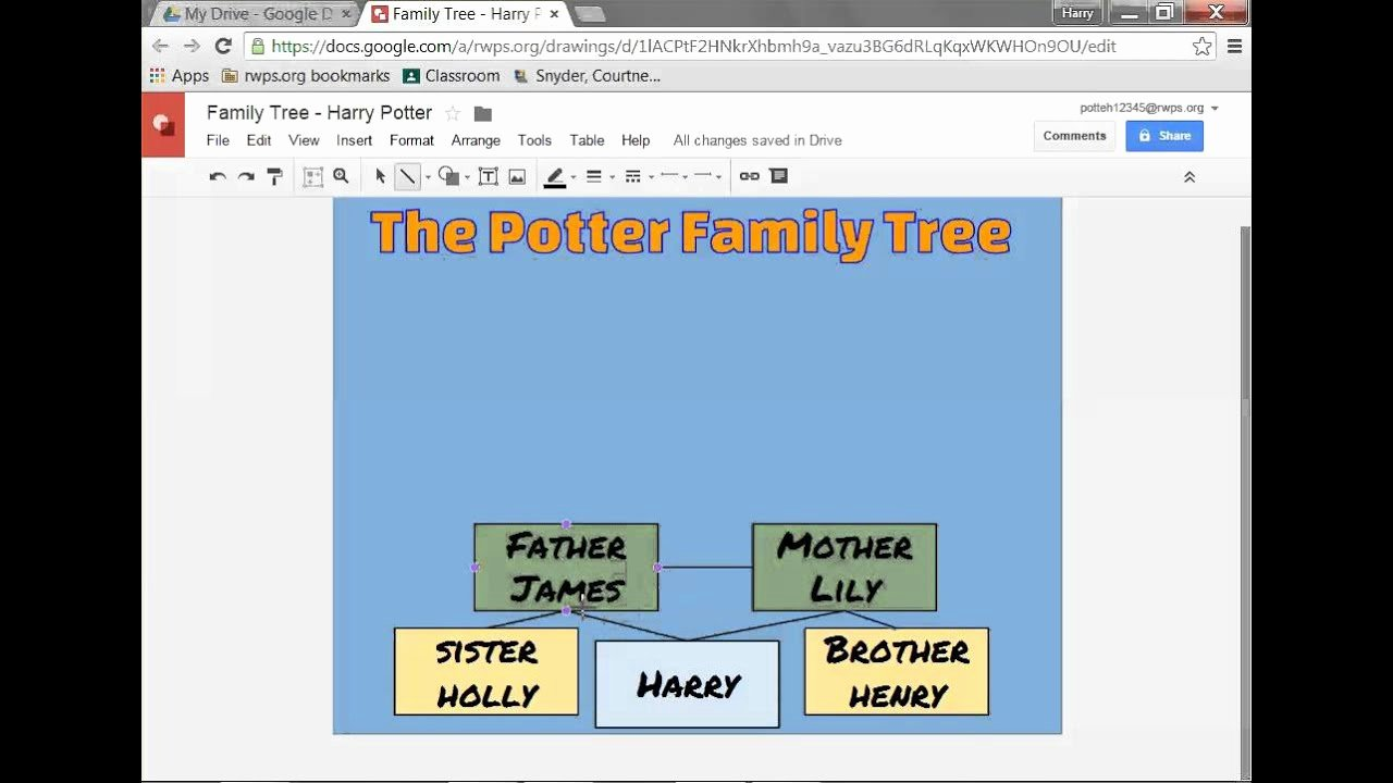 Google Docs Family Tree Inspirational Google Drawing Family Tree