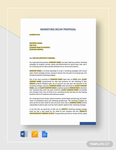 Google Docs Proposal Template Awesome Free 24 Marketing Proposal Templates In Google Docs Ms Word Pages