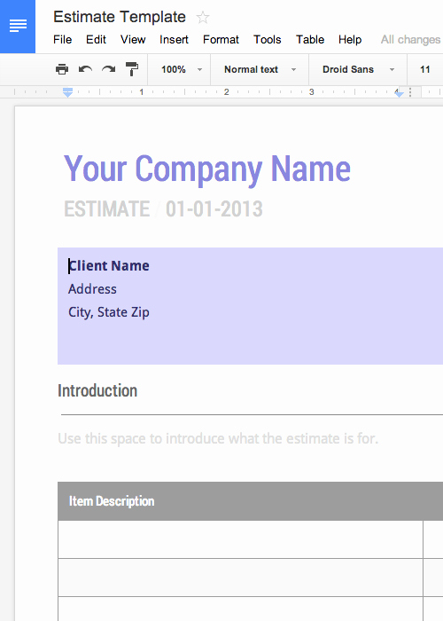 Google Docs Proposal Template Elegant Free Invoice & Timesheet Templates Cashboard