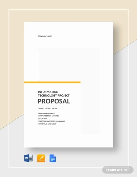 Google Docs Proposal Template Lovely 9 It Project Proposal Templates Word Pdf Apple Pages Google Docs