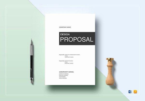 Google Docs Proposal Template Unique 23 Design Proposal Templates Word Pdf Pages