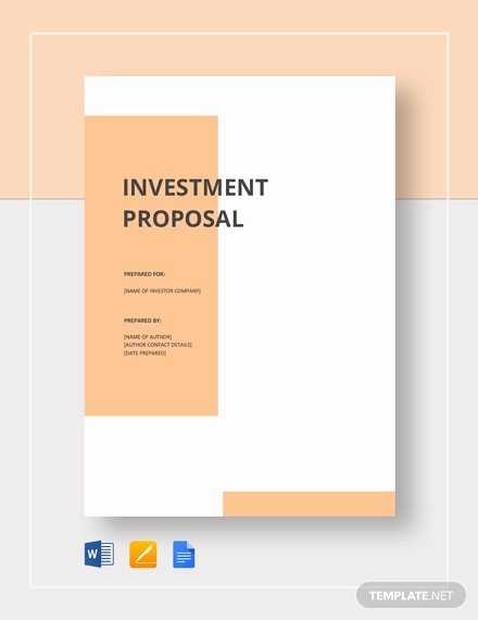 Google Docs Proposal Template Unique 30 Investment Proposal Templates Word Pdf Google Docs