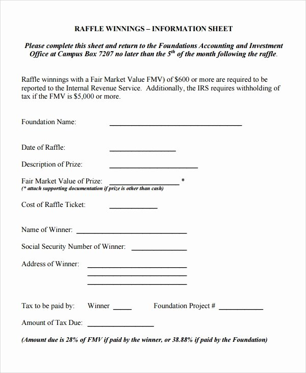 Google Docs Raffle Ticket Template Best Of Free 5 Sample Raffle Sheets In Google Docs