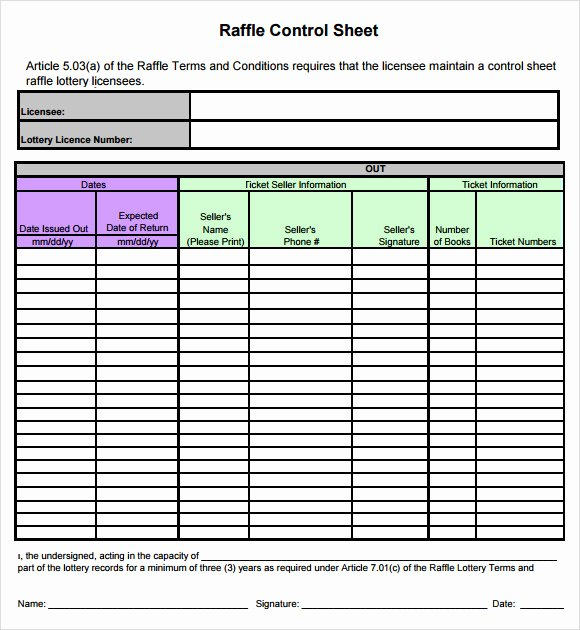 Google Docs Raffle Ticket Template Elegant Free 5 Sample Raffle Sheets In Google Docs