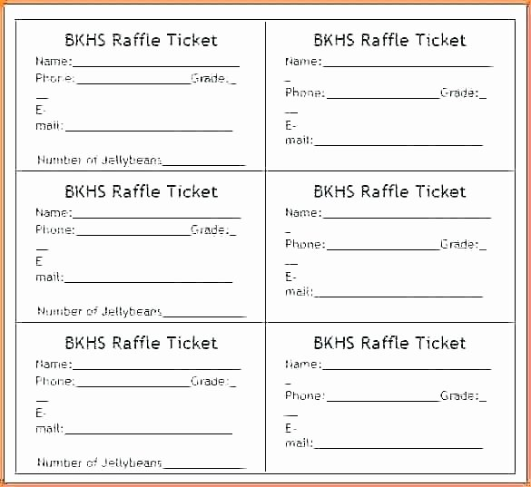 Google Docs Raffle Ticket Template Luxury Raffle Ticket Template