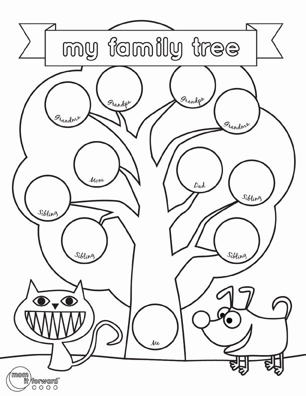 Google Family Tree Template Awesome My Family Tree Printable Volunteer
