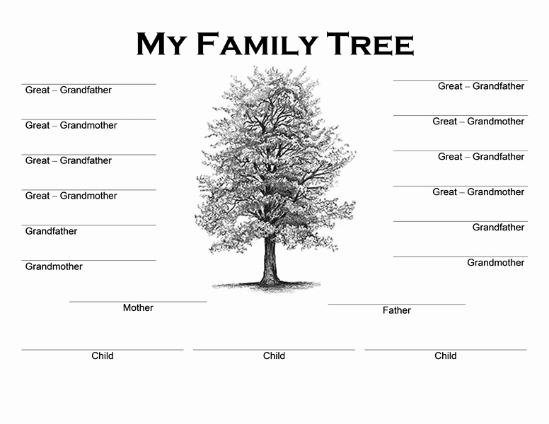 Google Family Tree Template Unique Family Tree Template Google Docs