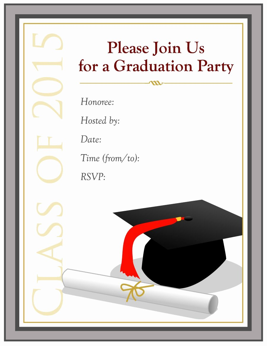 Graduation Invitation Templates Free Download Beautiful 40 Free Graduation Invitation Templates Template Lab