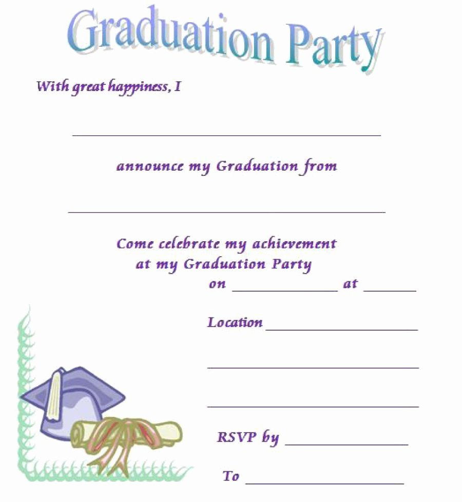 Graduation Invitation Templates Free Download Best Of 40 Free Graduation Invitation Templates Template Lab