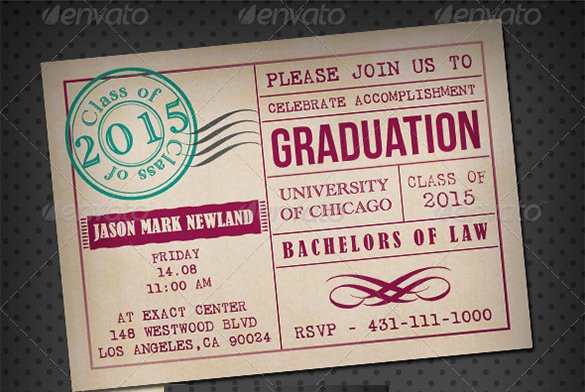 Graduation Invitation Templates Free Download Fresh 15 Graduation Card Templates Psd Ai