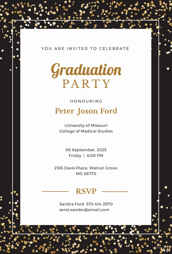 Graduation Invitation Templates Free Download Inspirational 19 Graduation Invitation Templates Invitation Templates
