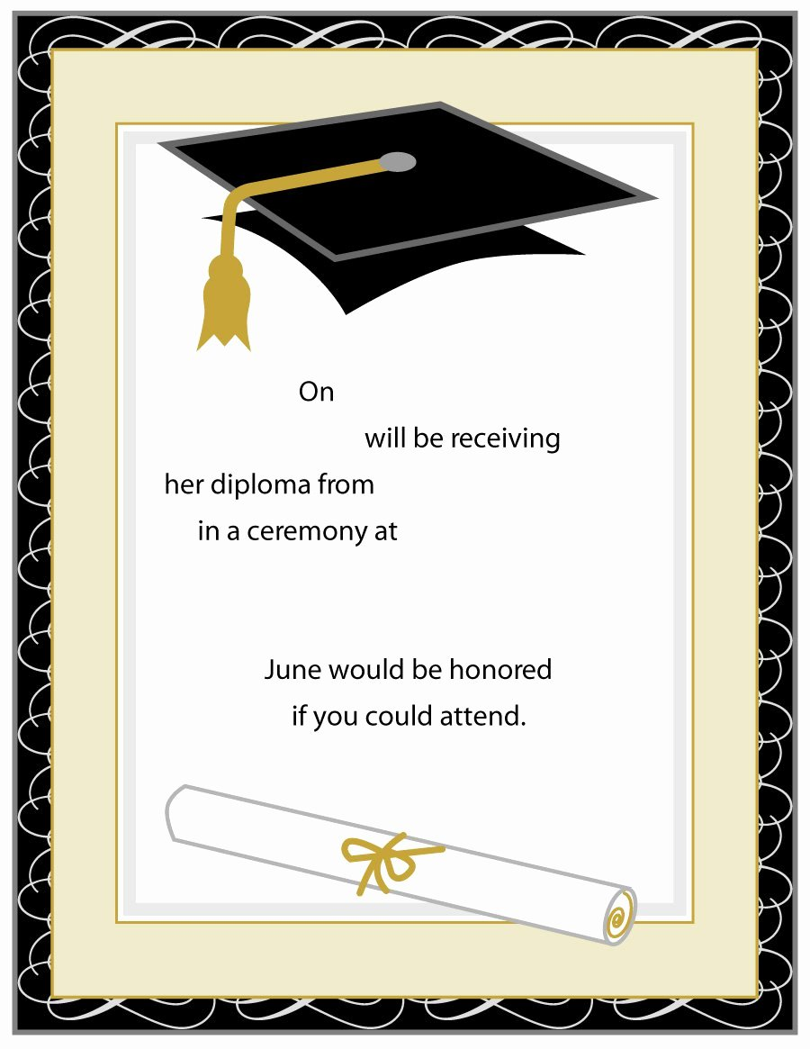 Graduation Invitation Templates Free Download Inspirational 40 Free Graduation Invitation Templates Template Lab