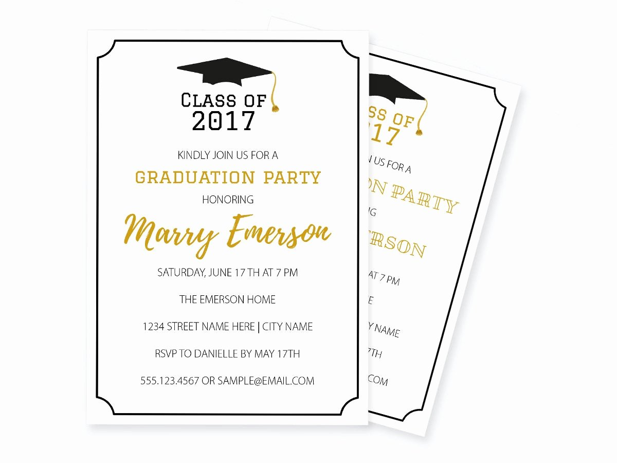 Graduation Invitation Templates Free Download Inspirational Graduation Invitation Pdf Template Class Of Printable