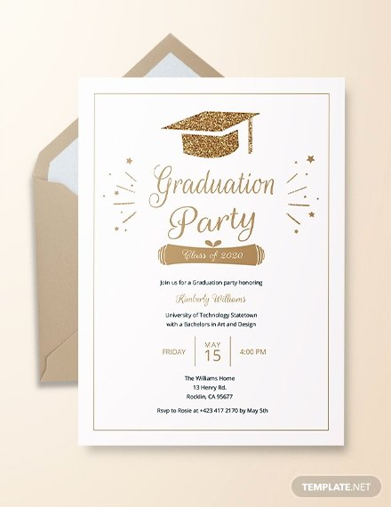 Graduation Invitation Templates Free Download Luxury 22 Graduation Invitation Templates Word Psd Vector Eps Ai