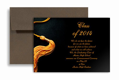 Graduation Invitation Templates Free Download New 2019 Black Golden Color Personalized Graduation Invitation 7x5 In Horizontal