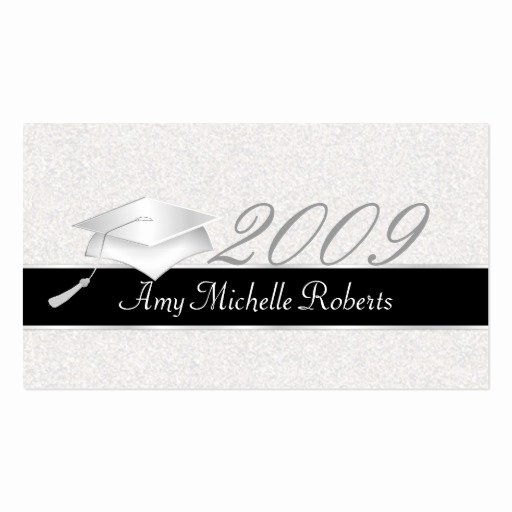 Graduation Name Card Template Elegant High School Graduation Name Cards 2009 Business Card Template