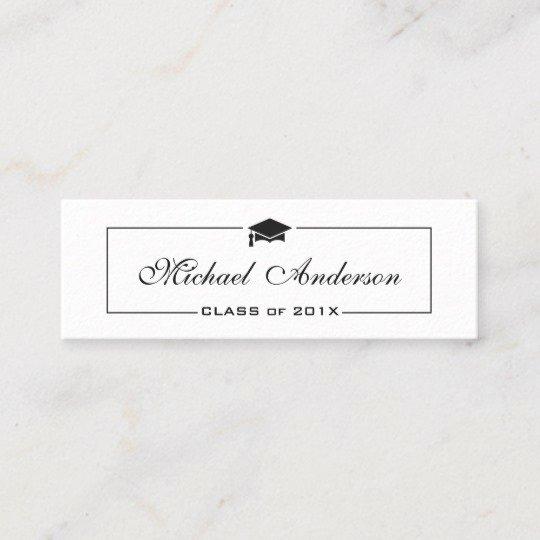 Graduation Name Card Template Fresh Graduation Name Card Elegant Classic Insert Card