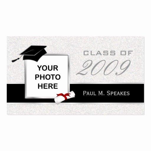 Graduation Name Card Template Fresh Graduation Name Card Gray and Black Business Card Templates