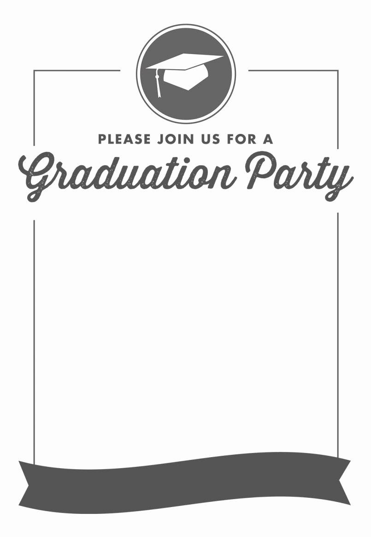 Graduation Name Card Template Luxury Blank Graduation Invitation Templates