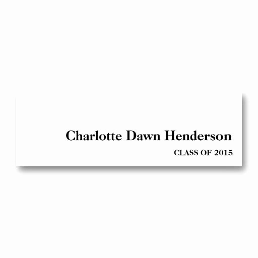 Graduation Name Card Template New 20 Best Images About Name Cards for Graduation Announcements On Pinterest
