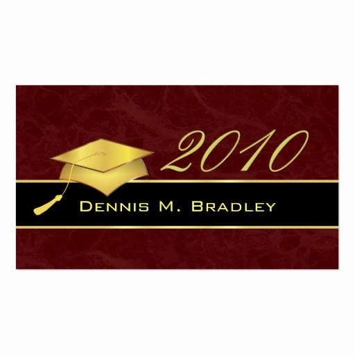 Graduation Name Card Template Unique High School Graduation Name Cards 2010 Double Sided Standard Business Cards Pack 100
