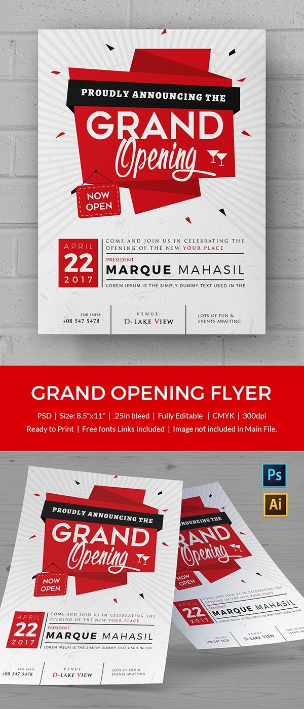 Grand Opening Flyer Template Awesome Grand Opening Flyer Template 34 Free Psd Ai Vector Eps format Download
