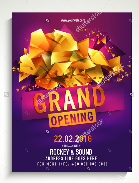 Grand Opening Flyer Template Free Awesome Grand Opening Flyer Templates 15 Download Documents In Vector Eps Psd