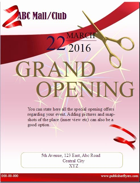 Grand Opening Flyer Template Free Beautiful 20 Best Publisher Flyers Images On Pinterest
