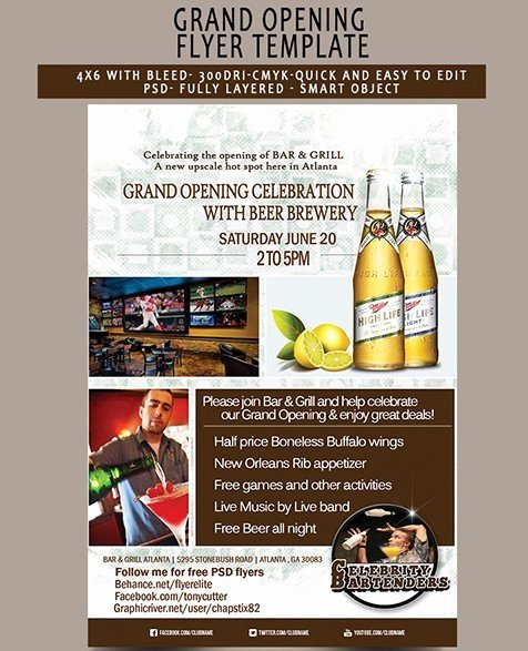 Grand Opening Flyer Template Free Best Of Free Grand Opening Flyer Template Psd Titanui