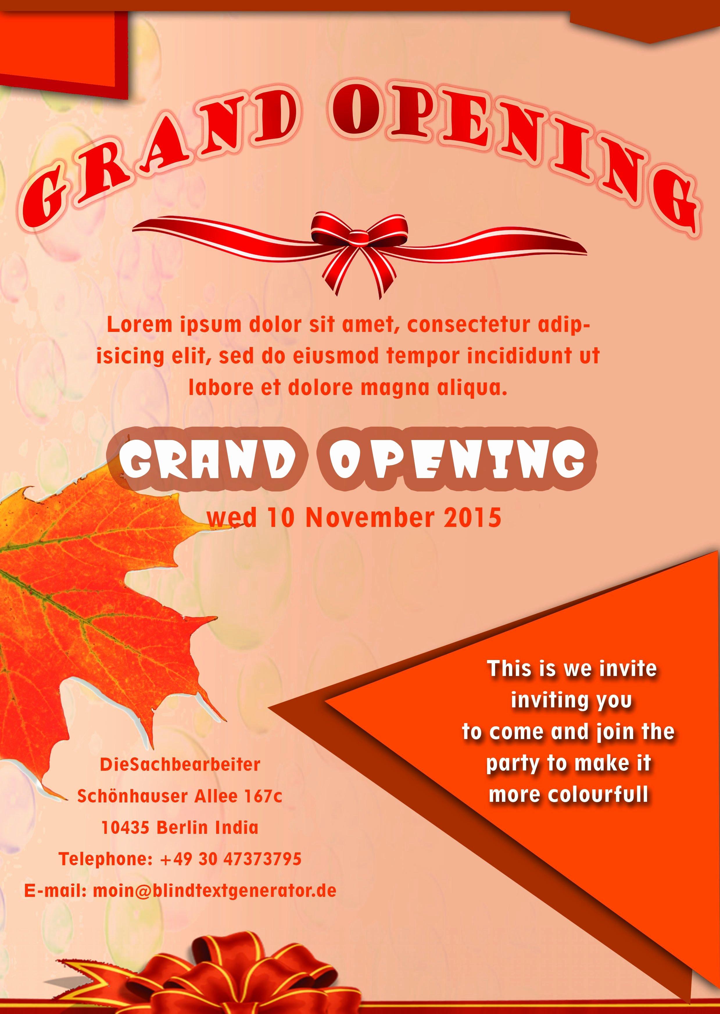 Grand Opening Flyer Template Free Elegant 20 Grand Opening Flyer Templates Free Demplates