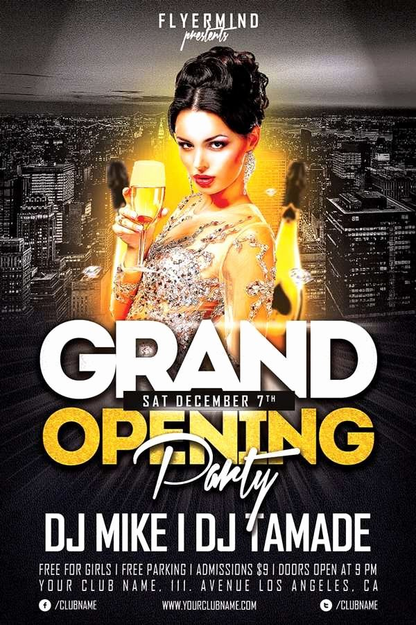 Grand Opening Flyer Template Free Elegant Download the Best Free New Year Flyer Psd Templates for Shop