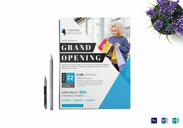 Grand Opening Flyer Template Free Inspirational 28 Grand Opening Flyer Templates Psd Docs Pages Ai