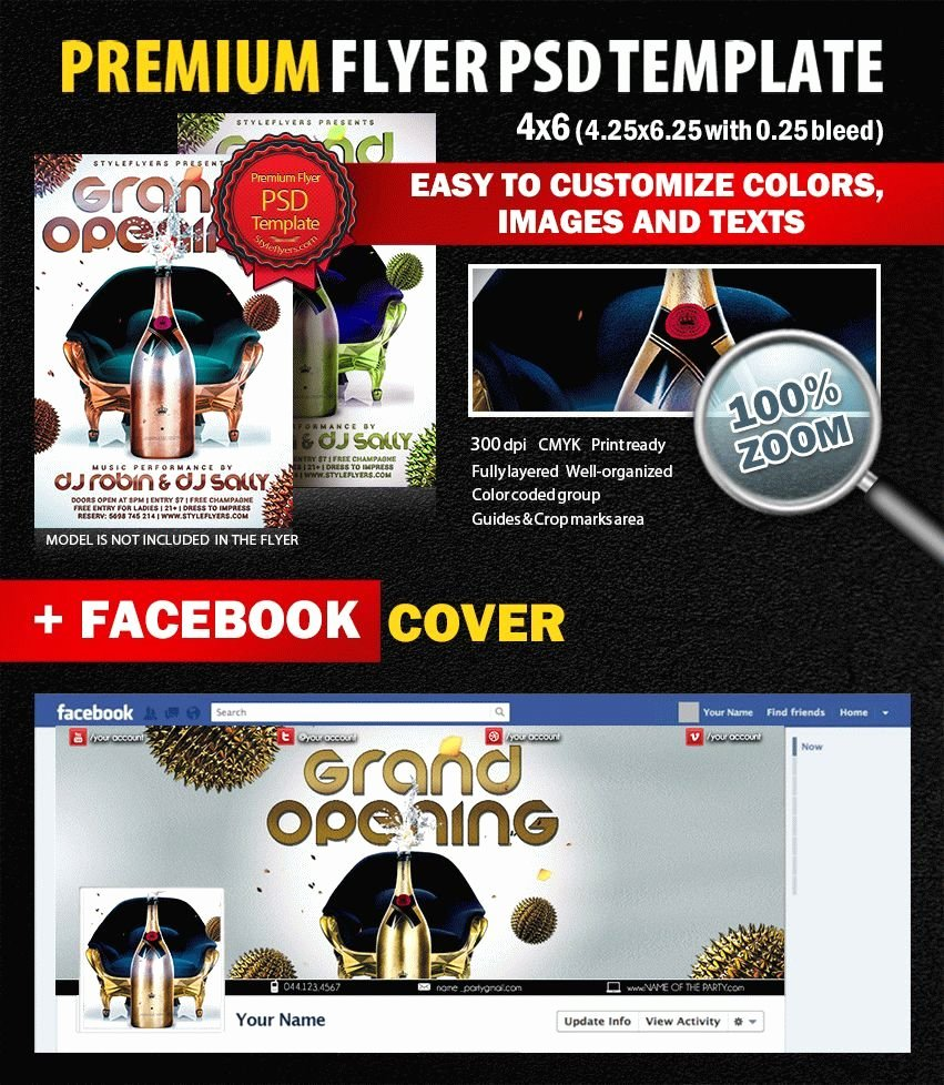 Grand Opening Flyer Template Free Inspirational Grand Opening Psd Flyer Template 6269 Styleflyers