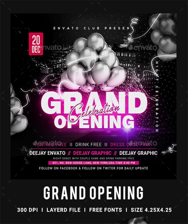 Grand Opening Flyer Template Free Lovely 48 Grand Opening Flyer Templates Free & Premium Psd Downloads