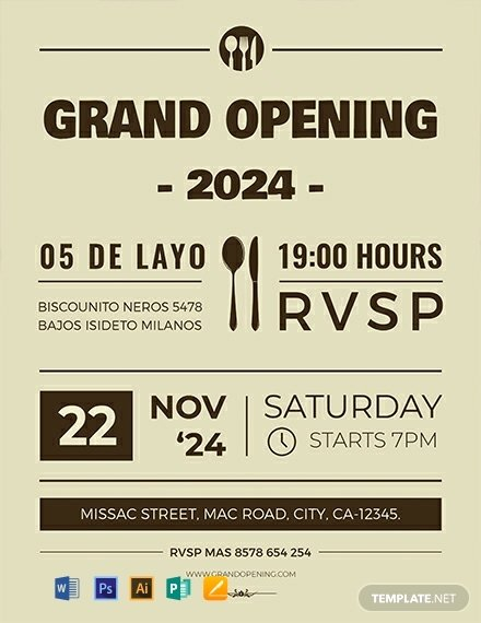 Grand Opening Flyer Template Free Lovely Free Grand Opening Flyer Template Word Psd Apple Pages Publisher