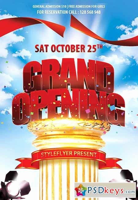 Grand Opening Flyer Template Free Lovely Grand Opening Psd Flyer Template Cover Free Download Shop Vector Stock Image