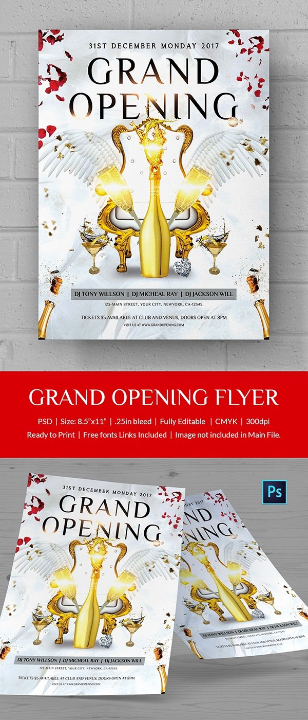 Grand Opening Flyer Template Free Luxury Grand Opening Flyer Template 34 Free Psd Ai Vector Eps format Download