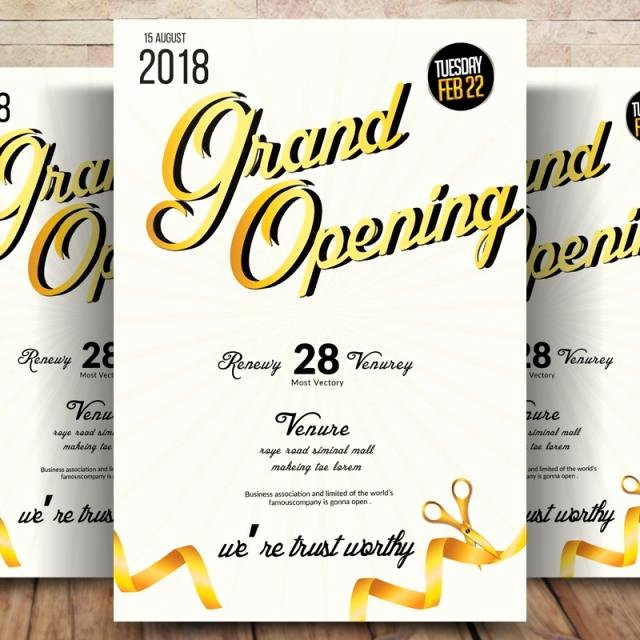 Grand Opening Flyer Template Free Unique Business Grand Opening Flyer Template for Free Download On Tree