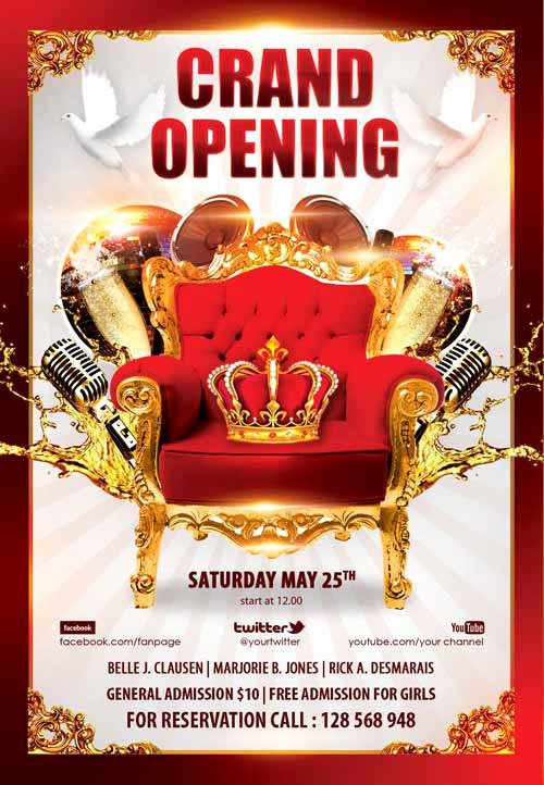 Grand Opening Flyer Template Free Unique Download the Grand Opening Party Free Flyer Template