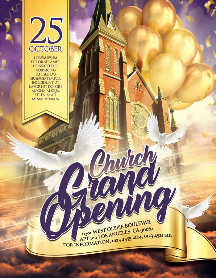 Grand Opening Flyer Template Inspirational Church Grand Opening – Flyer Psd Template – by Elegantflyer