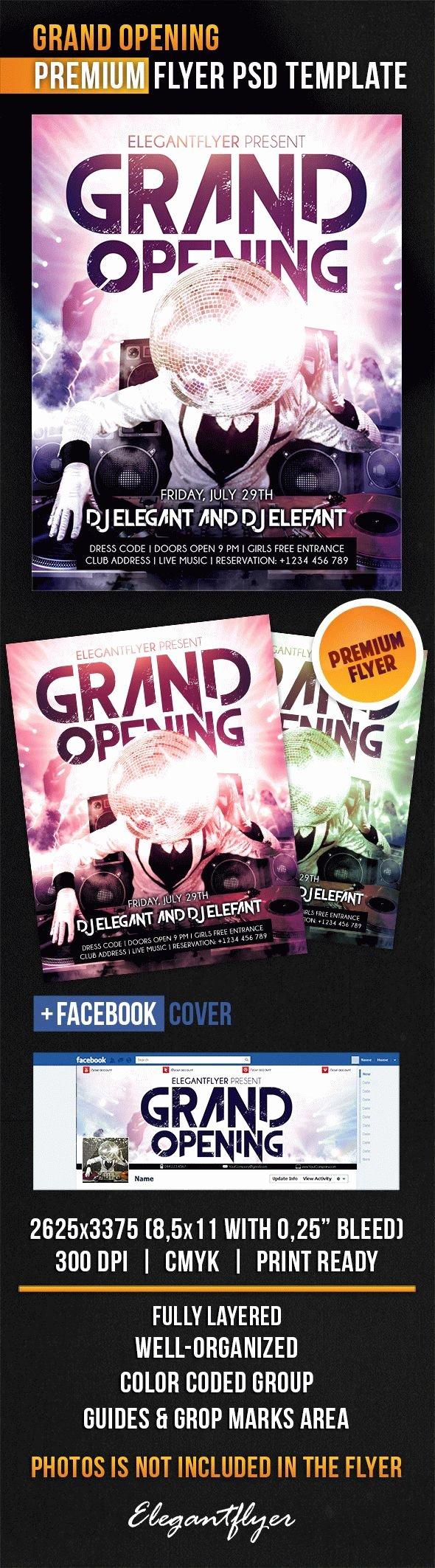 Grand Opening Flyer Template Luxury Dj for Grand Opening Flyer Template – by Elegantflyer